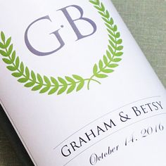 Great idea for a personalised Wedding Wine! Oak Room Wines supplies the wine and the label design too - totaly unique to you! Personalized Wine Labels, Personalized Wedding, Wedding Wine Labels, Wine Supplies, Wine Label Design, Monogram Wedding, Fall Wedding, Wedding Decorations, Marsala