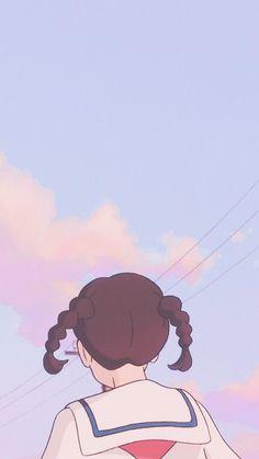 Studio Ghibli's From Up on Poppy Hill Iphone Wallpaper Kawaii, Cute Pastel Wallpaper, K Wallpaper, Anime Scenery Wallpaper, Aesthetic Pastel Wallpaper, Cute Anime Wallpaper, Cute Cartoon Wallpapers, Animes Wallpapers, Aesthetic Art