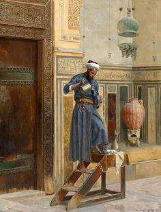View The lamp lighter by Ludwig Deutsch on artnet. Browse upcoming and past auction lots by Ludwig Deutsch. Art Arabe, Portrait Photos, Jean Leon, Goldscheider, Empire Ottoman, Middle Eastern Art, Arabian Art, Islamic Paintings, Kunst Online