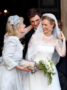 Princess Astrid of Belgium Prince Amedeo of Belgium and the bride... Nachrichtenfoto 451735888