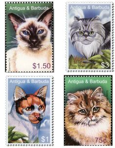 cats on postage stamps - Google Search