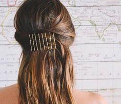 Como usar grampos no cabelo de várias formas diferentes #cabelos #hair #grampos #penteados #hairstyle #beleza #beauty