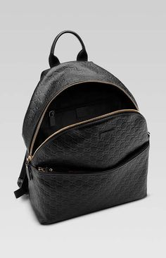 Gucci Black Leather Backpack, Excellent Condition,  1 year old, free  shipping 00ebe3814e