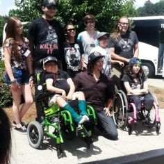 Norman Reedus visiting with Make A Wish families in Atlanta on June 13th 2015