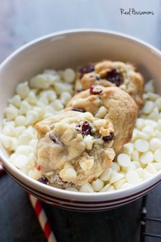 White Chocolate Cherry Pudding Cookies | Real Housemoms