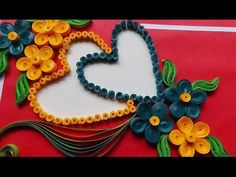 Paper Wedding Cards: make paper Quilling Wedding Card with heart. - YouTube