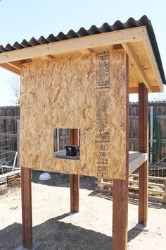 Attach front plywood to chicken coop frame