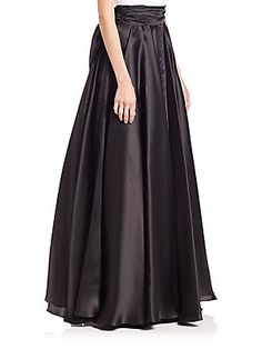MILLY Bow-Embellished Silk Organza Ball Skirt - Black - Size