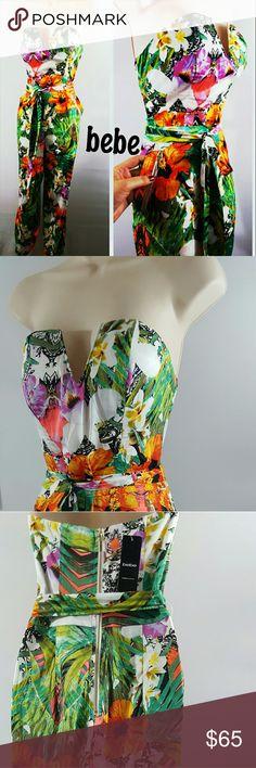 New bebe floral jumpsuit New bebe Floral jumpsuit  MSRP $103.00 bebe Pants Jumpsuits & Rompers