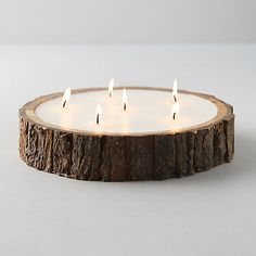 Unique Candles, Best Candles, Diy Candles, Wood Wick Candles, Beautiful Candles, Rustic Crafts, Wood Log Crafts, Country Wood Crafts, Homemade Scented Candles