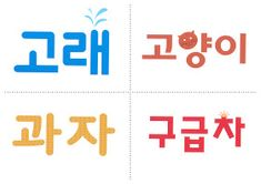 Hablemos en coreano: 초급 한글 카드 Letter Art, Tech Companies, Art For Kids, Language, Company Logo, Chart, Lettering, Learning, Logos