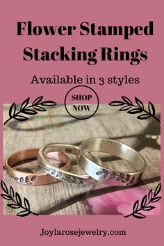 These hand stamped stacking rings are perfect for those looking for a modern casual ring. Check out the designs available in copper and sterling silver. Ankle Booties, Bootie Boots, Celebrity Shoes, Casual Rings, Anthropologie Shoes, Flower Stamp, I Love Jewelry, High Heel Boots, Stacking Rings
