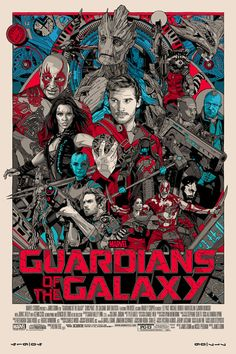 Tyler Stout Guardians of The Galaxy Regular Mondo Movie Poster marvel print art. To purchase this piece, or to buy and sell any signed limited edition artwork, visit us @ Printdrop.com.