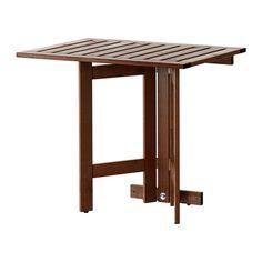ÄPPLARÖ Seinään kiinn taittopöytä, ulkokäyt IKEA Mahdollista taittaa kokoon tarvittaessa; tilaa säästävä ratkaisu pieneen tilaan.