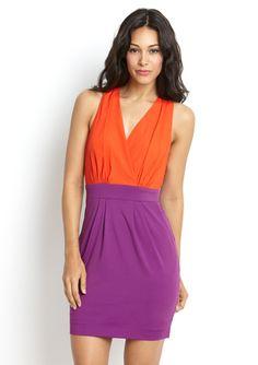 A $40 pop of color at ideeli.com: ARK & CO V-Neck Open Back Dress