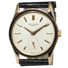 Patek Philippe Rose Gold Calatrava Wristwatch Ref 3796R Vintage $10,000