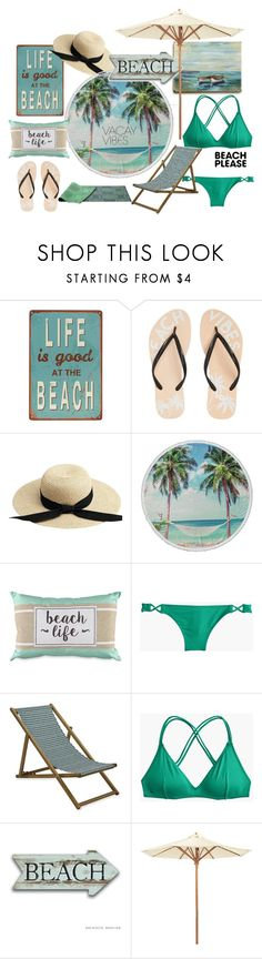"""Beath life"" by smile-my ❤ liked on Polyvore featuring Reef, Enchanté, Alona, J.Crew, Ballard Designs, happy, beach, BeachPlease and vacayoutfit"
