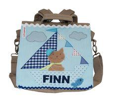 Kindergartenrucksack mit Namen- Ahoi, Katze von wohnzwerg  http://de.dawanda.com/product/71471647-Kindergartenrucksack-mit-Namen--Ahoi-Katze