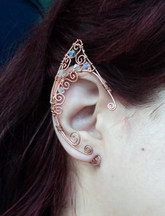 Elf ear cuff copper Elven ears wire wrapped by AlcazarDesigns
