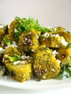 Methi Muthias (A Steamed Fenugreek Leaves and Chickpea Flour Snack)