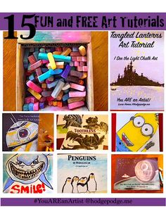 Sometimes we just need some fun! These 15 fun chalk pastel art tutorials offer just that – fun art afternoons with some favorite characters and topics.
