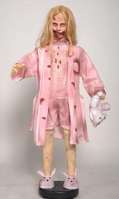 The Walking Dead Teddy Bear Girl Life-Size Statue
