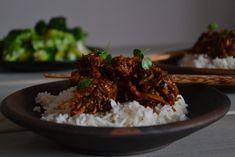 Asiatisk kylling med ris