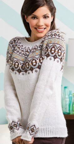 Ravelry: Nordica pattern by Amy Gunderson Fair Isle Knitting Patterns, Jumper Patterns, Knit Patterns, Fair Isle Pullover, Motif Fair Isle, Icelandic Sweaters, Creative Knitting, Knitting Magazine, How To Start Knitting