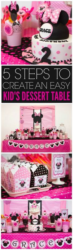 5 Steps to Create An Easy Child Dessert Table   CatchMyParty.com
