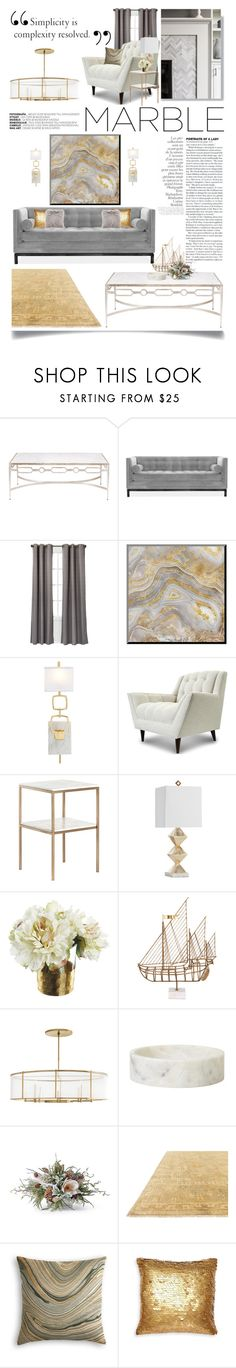 """Marble Home"" by ittie-kittie ❤ liked on Polyvore featuring interior, interiors, interior design, home, home decor, interior decorating, Jonathan Adler, Eclipse, Global Views and Thrive"