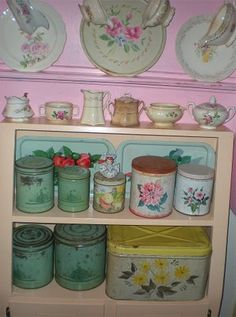 cute vintage canisters