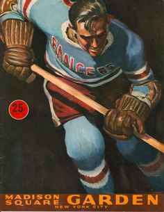 New York Rangers old game program cover…got to look through a bunch of these during my internship!