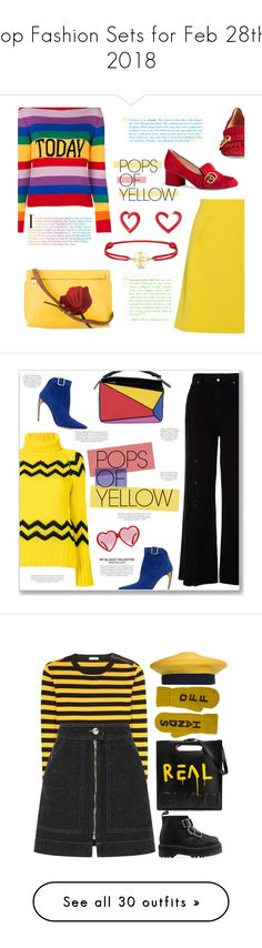 """""""Top Fashion Sets for Feb 28th, 2018"""" by polyvore ❤ liked on Polyvore featuring Alberta Ferretti, TIBI, Gucci, Loewe, David Yurman, Idylle, Joseph, River Island, Alexander McQueen and yellow"""