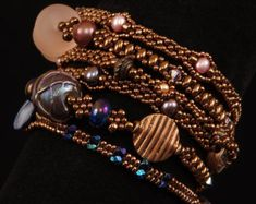Inspired by micro macrame and mixed media style wrap bracelets, The Summertime Wrap Bracelet Tutorial guides you through the process of making a Beads Jewelry, Jewelry Show, Jewelry Crafts, Jewelry Making, Beaded Bracelets, Wrap Bracelets, Jewlery, Jewelry Ideas, Armband Tutorial