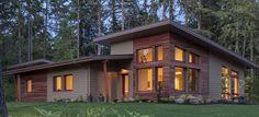 Luxurious triple glazed oak windows with aluminium exterior cladding Exterior Cladding, Windows And Doors, Cabin, Luxury, House Styles, Home Decor, Exterior Siding, Decoration Home, External Cladding