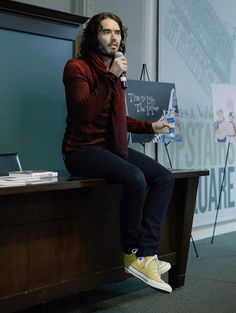 "Russell Brand Signs Copies Of His Book ""The Pied Piper Of Hamelin"""