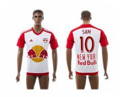 2015-2016 New York Red Bulls 10 SAM Home White Thai Soccer Jersey