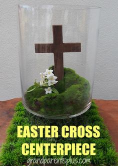 Here's an easy to make, meaningful Easter Cross Centerpiece.  By displaying it in your home, it is  a daily reminder of what Easter is really about to your family and guests in your home.