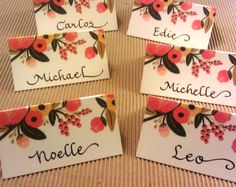 Love these place cards from Rifle Paper Co.  (www.calligraphybycarrie.com)
