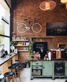 Two loft cafe, netherlands 👥 tag a friend 👇 shop barista tools 👉 link in Rustic Coffee Shop, Vintage Coffee Shops, My Coffee Shop, Coffee Coffee, Ninja Coffee, Espresso Coffee, Coffee Cake, Coffee Drinks, Coffee Beans