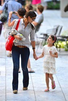 Katie Holmes and daughter Suri. #Kids #Clothes #Celebrities   http://www.devlishangelz.ca/