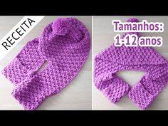 Crochet Scarves, Crochet Hats, Crochet For Kids, Neck Warmer, Diy And Crafts, Baby Kids, Knitting, Turbans, Camila