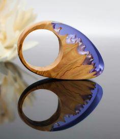 handmade wood and resin ring. ArtfulResin.etsy.com
