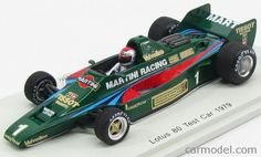 SPARK-MODEL S4284 Scale 1/43  LOTUS F1  80 N 1 TEST CAR 1979 MARIO ANDRETTI GREEN RED