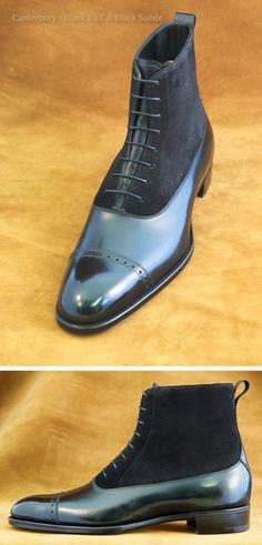 Handmade Mens black Dress Boots, Mens cap toe Lace up ankle boots, Mens boots Mens Black Dress, Black Leather Dresses, Me Too Shoes, Men's Shoes, Shoe Boots, Mens Shoes Boots, Fashion Boots, Mens Fashion, Urban Fashion