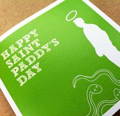 Our very own swash (and snake) buckling Saint Patrick deserves to be honored, not only by a lovely day off from work, a parade or a jar, but by sitting on mantle pieces all over the land. Each card is 120mm x 120mm and printed on Olin Rough High White, comes with brown ribbed kraft envelope and is packed in a clear cello bag.Blank inside.Shipping Ireland€1.50 (per order up to 10 cards)Shipping Worldwide €3.50 (per order up to 10 cards)For orders more than 10 go to the contact page and drop…