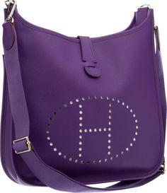 Hermes Iris Epsom Leather Evelyne GM III Messenger Bag Pristine Condition Width x Height x - Available at 2012 December 4 Handbags &. Purple Love, Purple Bags, Red Purses, Purses And Bags, Hermes Evelyn Bag, Spring Bags, Hermes Paris, Hermes Handbags, Luxury Bags