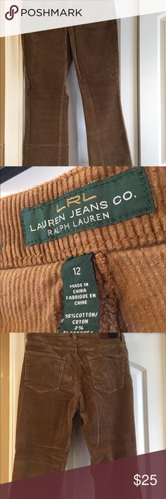 Corduroy Slacks Brown corduroy ladies slacks. Lauren Ralph Lauren Pants Straight Leg