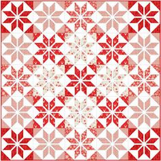FREE downloadable Christmas quilt pattern using Makower's Christmas 2016 Scandi 3. The latest Scandi collection from Henley Studio. Traditional Nordic designs with coordinating Scandi basics, with a Linen Texture back ground.