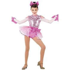 White Spandex, Jazz Dance Costumes, Spandex Shorts, White Chiffon, Recital, Dance Outfits, Headpiece, Pink White, Ballet Skirt